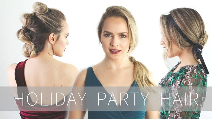 Glam Holiday Party Hairstyles Tutorial- the bubble faux hawk!! and the braided updo thing
