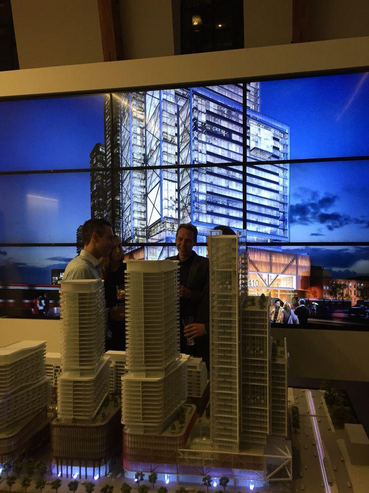Video wall for condo sales centre