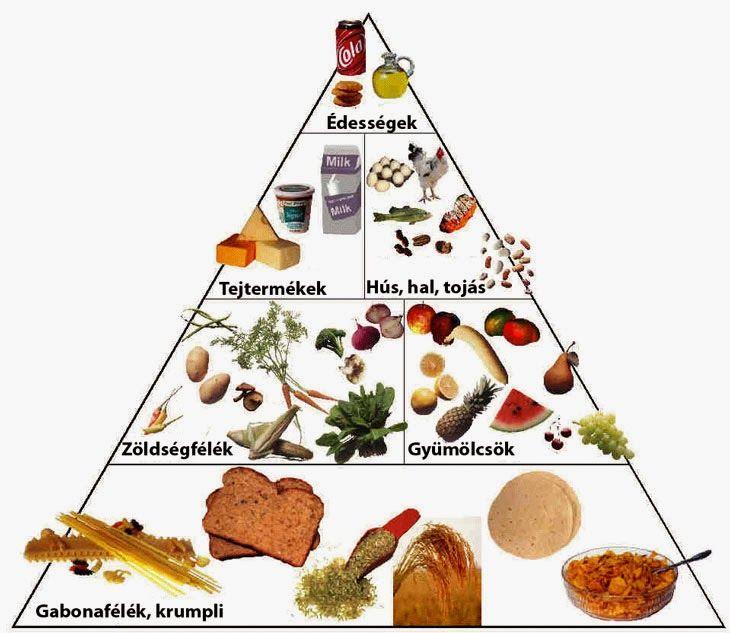 Marci fejlesztő és kreatív oldala: Helyes táplálkozás- Táplálkozási piramis