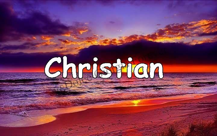 Buon Onomastico .... Christian .