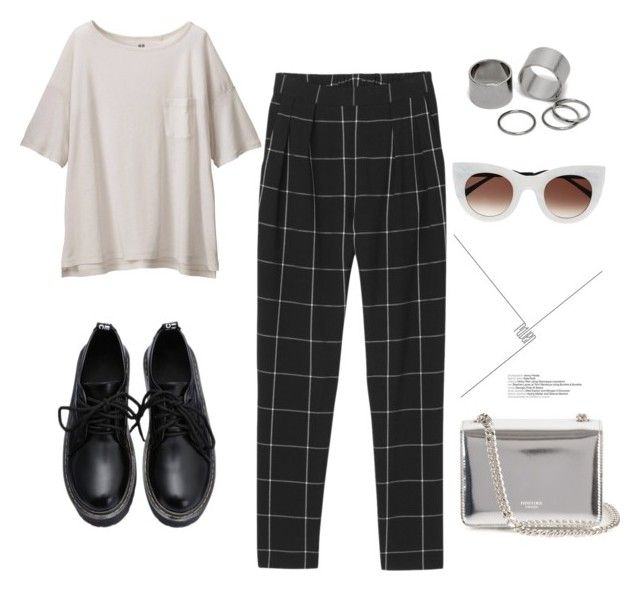 """""""Untitled #2"""" by alecter ❤ liked on Polyvore featuring Uniqlo, Rochas, Pieces, Thierry Lasry, Monki, outfit, ootd, trending and Minimalist"""