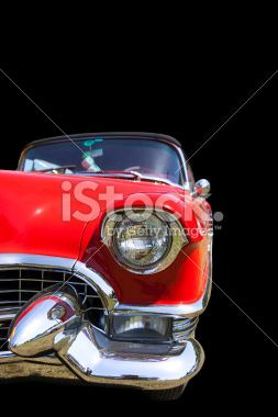 Classic Car Isolated On Black Royalty Free Stock Photo