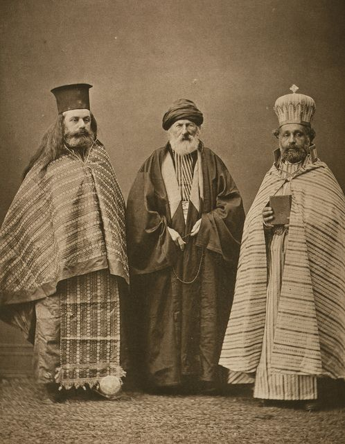 19th century, Turkish Mullah with Armenian & Greek Priests