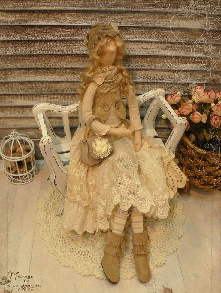 ПРОДАНА   Цена: 7 000 р. Купить Тильду   Кукла в стиле Бохо, девушка из коллекции Ivory - красотка Агнесса У представленной кр...