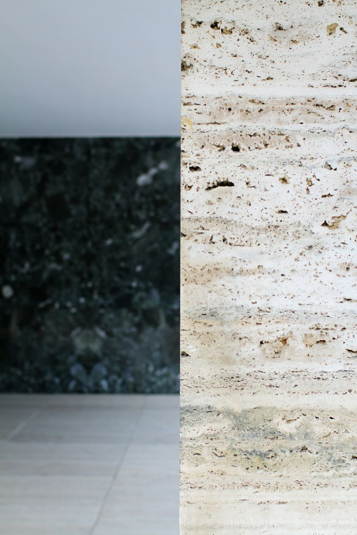 Mies van der Rohe / travertin natural stone / detail -