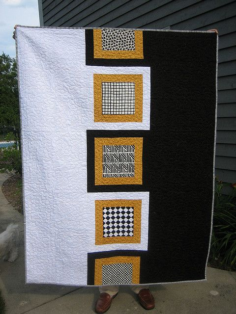 """School colors quilt.  These are for Wake Forest, but it could be done in any colors.  """"Which is Which"""" by mamacjt, via Flickr"""