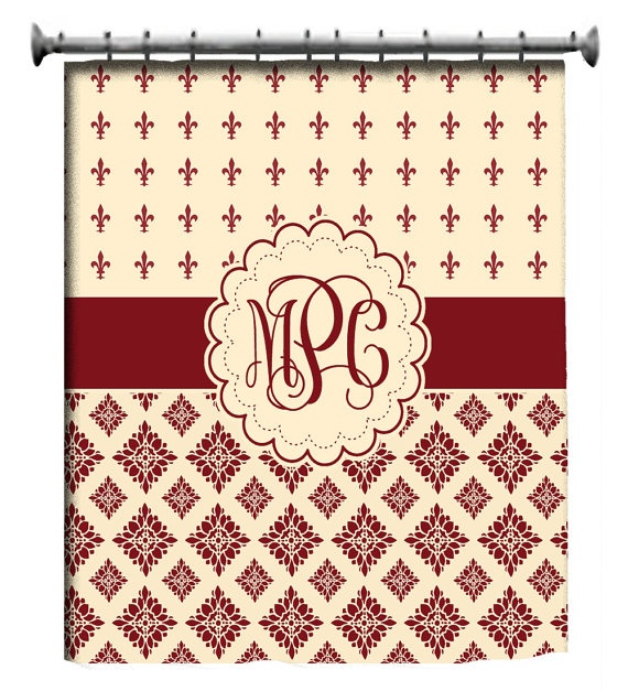 1000 ideas about custom shower curtains on pinterest shower curtains custom shower and curtains - Fleur de lis shower curtains ...