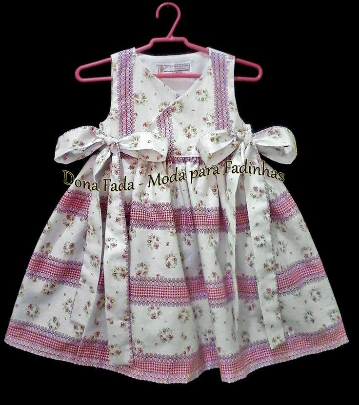 Vestido Transpassado  - 1 ano  ______________baby - infant - toddler - kids - clothes for girls - - - https://www.facebook.com/dona.fada.moda.para.fadinhas/