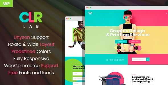 Colorlab Is The New Wordpress Theme Created For Printing Services