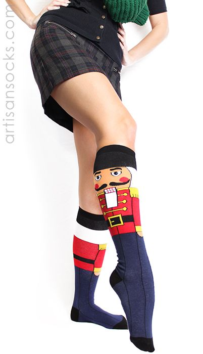 Nutcracker Socks - Knee High Holiday Socks by Sock It To Me from Artisan Socks www.artisansocks.com