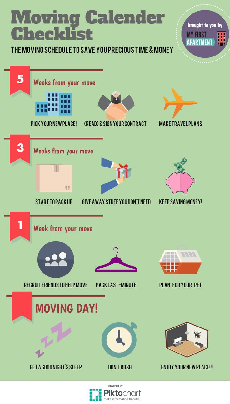 Moving Schedule Checklist to Save Time & Money - My First Apartment