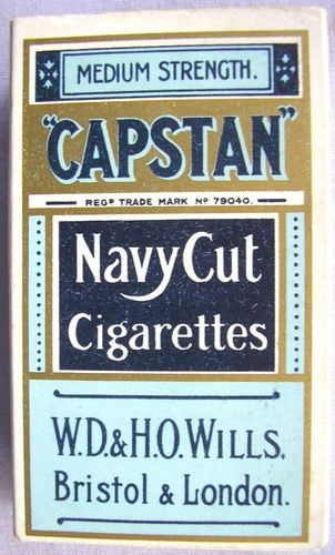 vintage Capstan Navy Cut cigarette packet