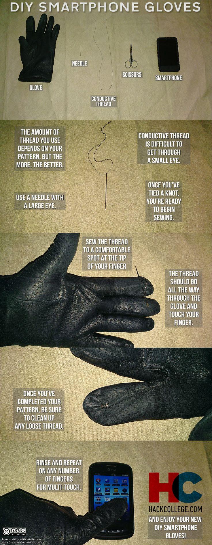 DIY Smartphone Gloves - HackCollege