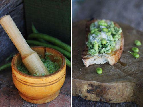 Springtime Morel And Fava Bean Crostini Recipes — Dishmaps