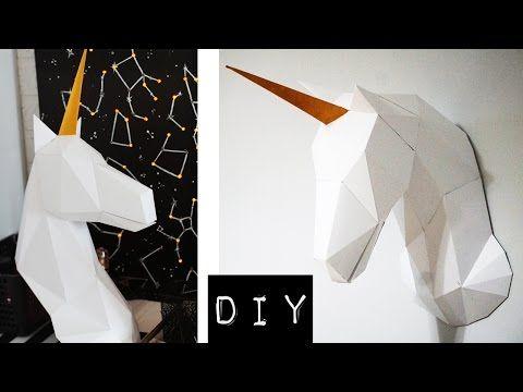 DIY: ЕДИНОРОГ своими руками // 3D Papercraft Unicorn - YouTube