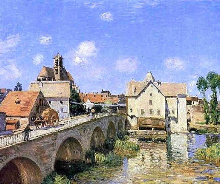 The Bridge at Moret-sur-Loing by Alfred Sisley