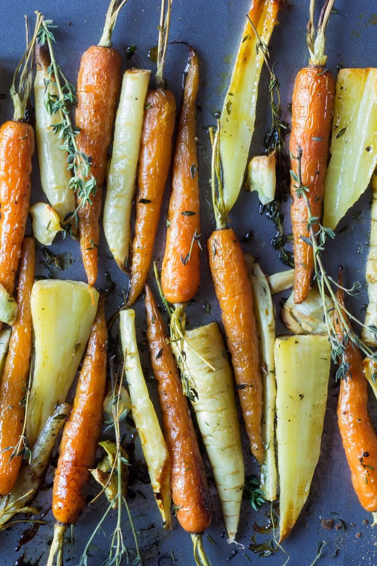 Christmas carrots and parsnips honey roast root vegetables