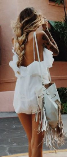 Bag, romper and braid!