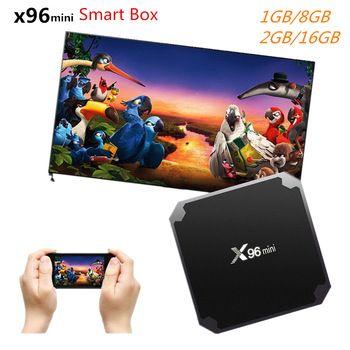 X96 mini Android 7.1 TV BOX 2GB 16GB Smart TV Box Amlogic S905W Quad Core Suppot H.265 UHD 4K 2.4GHz WiFi X96mini pk A95X R1   Price: 46.40 USD