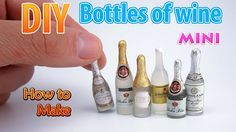 tutorial: miniature bottles of wine