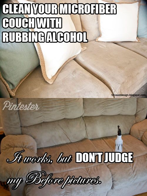 microfiber couch cleaning with rubbing alcohol couch