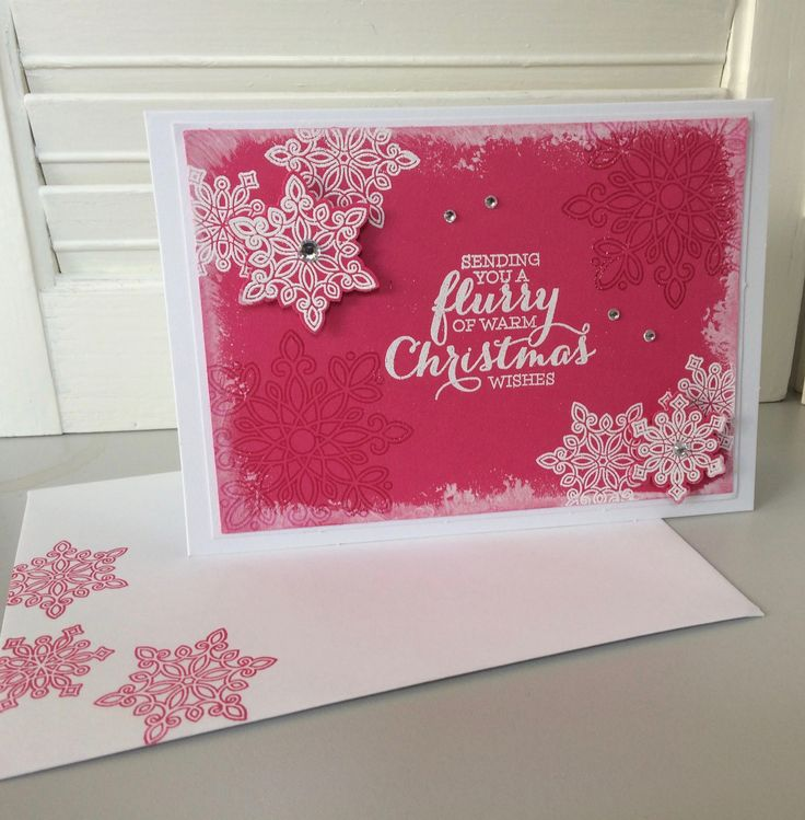 """Christmas card - """"Flurry of Wishes"""", Stampin' Up!"""