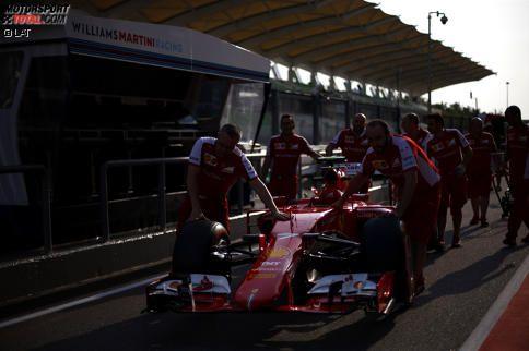 Der Ferrari von Kimi Räikkönen