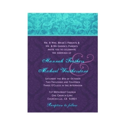 Purple And Blue Weding Invitations 01 - Purple And Blue Weding Invitations