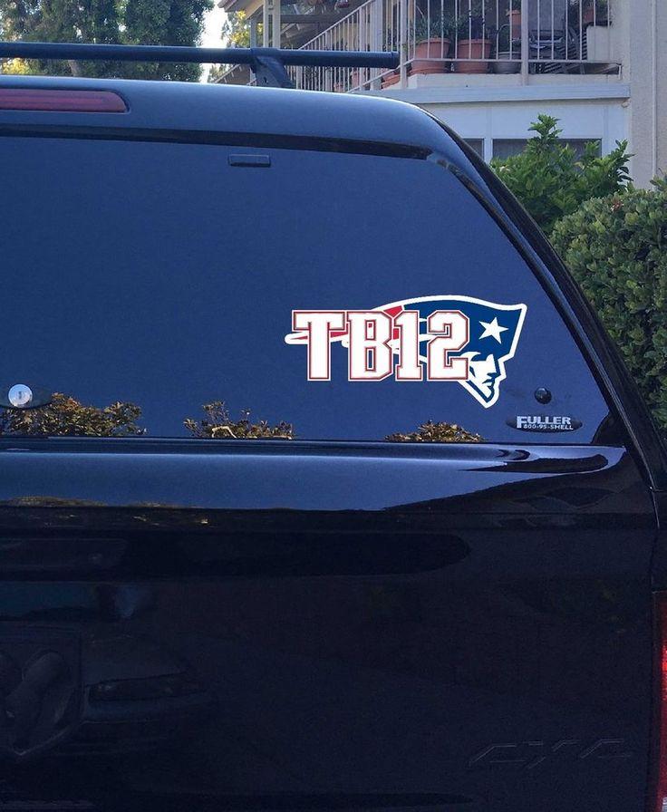 22-06 New England Patriots Tom Brady Jersey TB12 Logo vinyl sticker decal NFL #NewEnglandPatriots