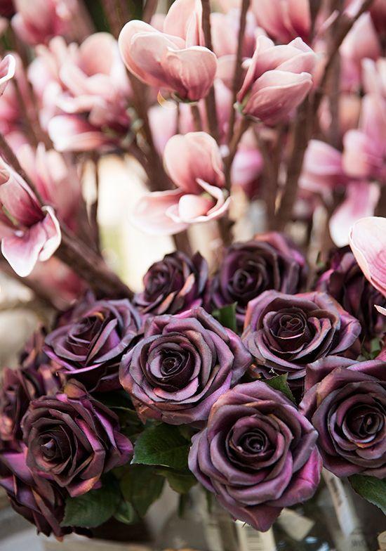 Roze en paarse rozen, ook mooi als combinatie #kerst #praxis