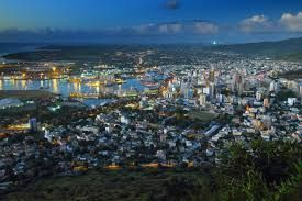City of Port Louis, Mauritius. City of Port Louis from Fort Adelaide Citadel