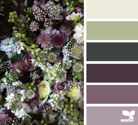 flora palette - gorgeous combinations for autumn - order your Doubleknot in Sage and Violet to match www.thedoubleknotcompany.com