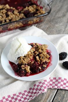 Blackberry Crisp Recipe - RecipeGirl.com