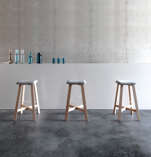 The BEVEL stools by Sohei Arao for PUNT MOBLES