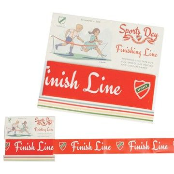 This Sports Day Finishing Line Tape is wonderful for fun and games at parties or in the garden. Perfect for children, young and old! On Your Marks, Get Set, GO! Will you be a sports day champion?