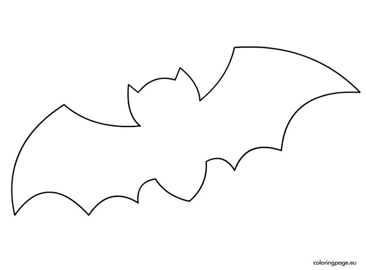 Best 25 bat template ideas on pinterest halloween bat for Printable bat coloring pages