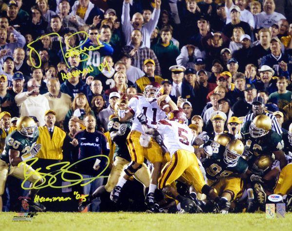 Reggie Bush & Matt Leinart Autographed 16x20 Photo Heisman '04 & '05 PSA/DNA #Q35142
