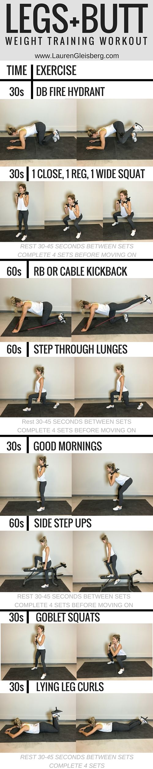 Legs + Butt Workout | click for the full plan