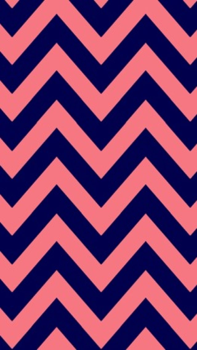 Pink and blue chevron background