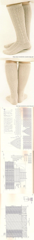 Белые носки. (Схема из азиатского журнала) | Постила