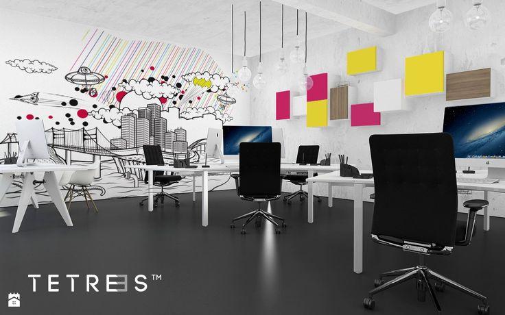 Minimalistyczne Półki TETREES - zdjęcie od TETREES - Wnętrza biurowe - Styl Minimalistyczny - TETREES