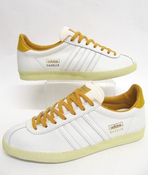 Adidas Gazelle OG Trainers in White/Mustard