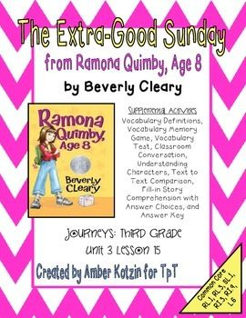 Printables Ramona Quimby Age 8 Worksheets 1000 images about ramona quimby age 8 on pinterest the extra good sunday from 3rd grade journeys
