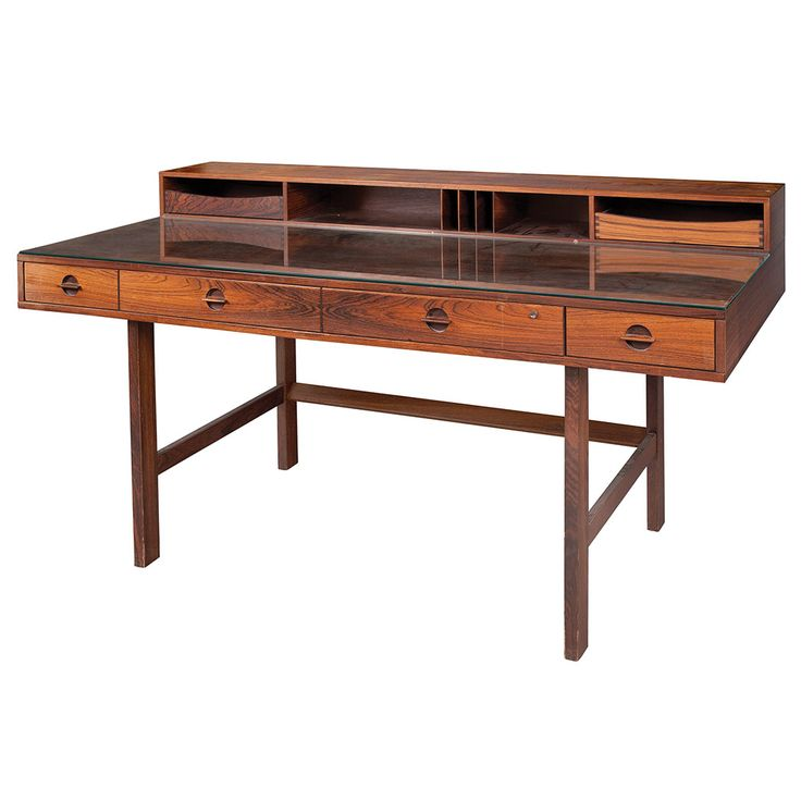 Lot 1017 Part Of The N A Auction At Doyle Danish Desk Designed For Lovig Dansk Rosewood Height 34 Inches Width 63 Depth 28