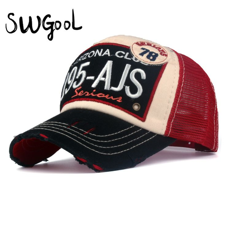 [SWGOOL]summer Baseball caps Breathable Net Cap Casual Snap Back Mesh Hat casquette embroidery letter cap bone hats for men wome
