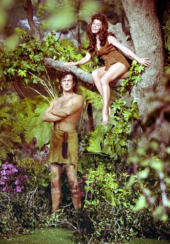Rock Hudson and Doris Day, Tarzan and Jane series (1964) Photo by Leo Fuchs