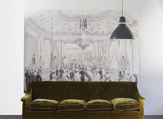 Ballroom Wall Mural Girls Room Wallpaper Dancing by anewalldecor, $228.00