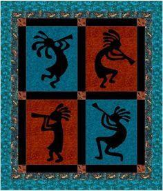 272 best Quilt: Kokopelli | SouthWest images on Pinterest ... : kokopelli quilt pattern - Adamdwight.com