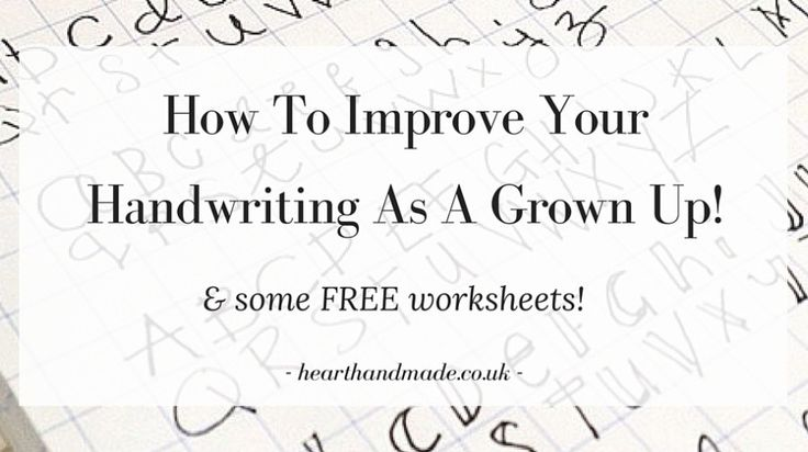 Click Through To Grab Your Free Handwriting Worksheets | How To Improve Your Handwriting As A Grown Up