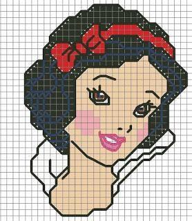 Schema punto a croce di Biancaneve, principessa Disney | Punto Croce